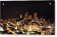 Night View Of San Francisco Acrylic Print by Luiz Felipe Castro