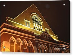 Night View Of The Ryman Acrylic Print