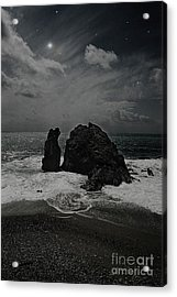 Night Waves Acrylic Print by Virginia Furness