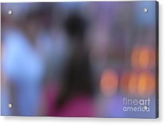 Acrylic Print featuring the photograph Imagine Nightfall At The Funfair by Andy Prendy