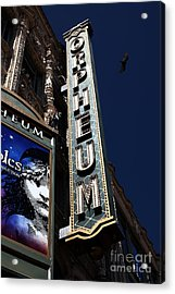 Acrylic Print featuring the photograph Nightfall At The Orpheum - San Francisco California - 5d17991 by Wingsdomain Art and Photography