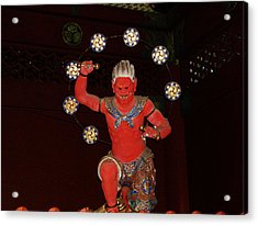 Nikko Red Figure Acrylic Print