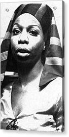 Nina Simone, 1978 Acrylic Print by Everett