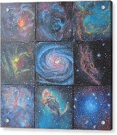 Nine Nebulae Acrylic Print by Alizey Khan