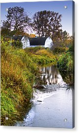 Nisqually Wildlife Refuge P21 The Twin Barns Acrylic Print by David Patterson