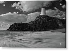 Acrylic Print featuring the photograph Niwbwrch Lighthouse by Beverly Cash