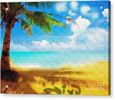 Nixo Landscape Beach Acrylic Print by Nicholas Nixo