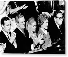 Nixon Family And Administration Listen Acrylic Print