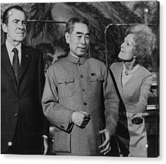 Nixon Presidency.  From Left  Us Acrylic Print by Everett