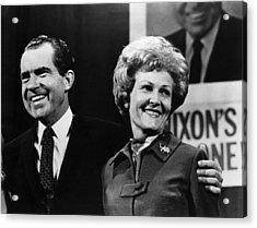 Nixon Presidency. Us President-elect Acrylic Print by Everett