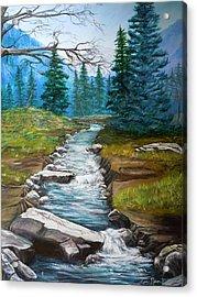 Nixon's Bubbling Running Creek Acrylic Print