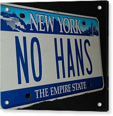 No Hans Acrylic Print by Rob Hans
