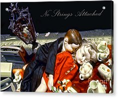 No Strings Attached Acrylic Print by Gregory Dyer