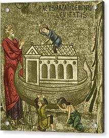 Noah Building The Ark Acrylic Print by Photo Researchers