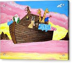 Acrylic Print featuring the painting Noah's Ark by Christie Minalga