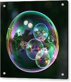 #nofilter #doubletap #bubbles Acrylic Print