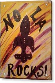 Nola Rocks Acrylic Print by Sula janet Evans