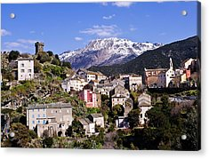 Nonza Village Acrylic Print by FCremona