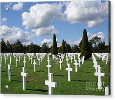 Normandy American Cemetery Acrylic Print by Carol Groenen