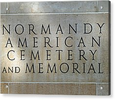 Normany Ww II American Cemetery And Memorial  Acrylic Print