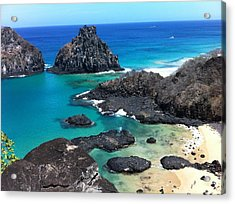 Noronha Acrylic Print by by Marcos Barbosa