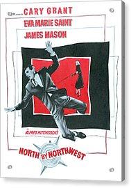 North By Northwest, Cary Grant, Eva Acrylic Print by Everett