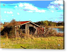 Acrylic Print featuring the photograph North Carolina Blue And Me by Bob Whitt