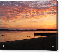 Acrylic Print featuring the photograph North Fork Li Sunrise by Frank Wickham