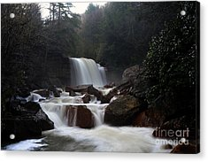 Acrylic Print featuring the photograph North Forks Waterfalls by Dan Friend