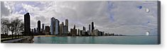 Acrylic Print featuring the photograph North Of Navy Pier From The Series Chicago Skyline by Verana Stark