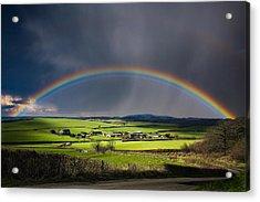 North Poorton Rainbow Acrylic Print by Kris Dutson