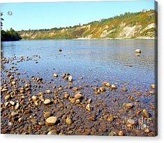 Acrylic Print featuring the photograph North Saskatchewan River by Jim Sauchyn