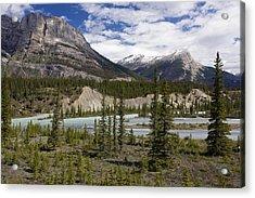 North Saskatchewan River Valley Acrylic Print by Bob Gibbons