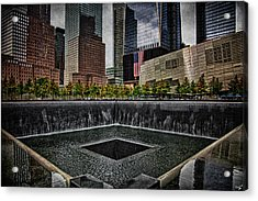 North Tower Memorial Acrylic Print by Chris Lord