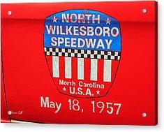North Wilkesboro Speedway Acrylic Print by Suzanne Gaff