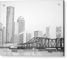 Northern Avenue Bridge - Boston Acrylic Print by Tim Murray