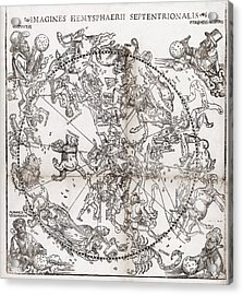 Northern Hemisphere Star Chart, 1537 Acrylic Print by Middle Temple Library