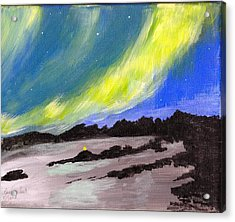 Acrylic Print featuring the painting Northern Lights 1 by Audrey Pollitt
