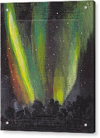 Acrylic Print featuring the painting Northern Lights 3 by Audrey Pollitt