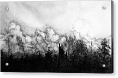 Northern Minnesota Storm Acrylic Print by Hannah Ostman