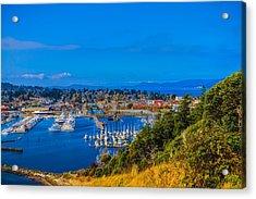 Northwest Harbor Acrylic Print by Ken Stanback