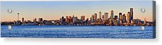 Northwest Jewel - Seattle Skyline Cityscape Acrylic Print by James Heckt