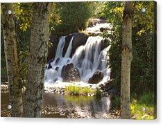 Northwoods Falls Acrylic Print by Marty Koch