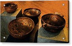Norwegian Bowls Acrylic Print by Nina Fosdick