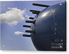 Nose Guns On B25 Mitchell Airplane Acrylic Print by M K  Miller