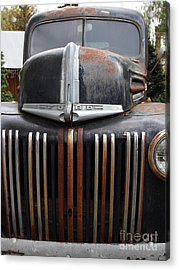 Nostalgic Rusty Old Ford Truck . 7d10281 Acrylic Print by Wingsdomain Art and Photography