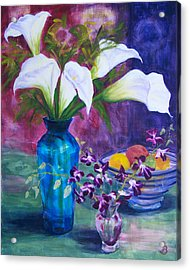 Acrylic Print featuring the painting Not So Still Life by Joe Bergholm