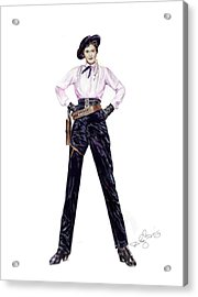 Not Your Average  Barbie Acrylic Print by Shirley Morris