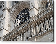 Acrylic Print featuring the photograph Notre Dame Details by Jennifer Ancker