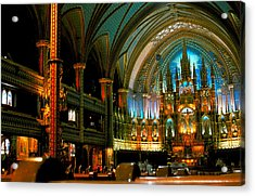 Notre Dame In Montreal Acrylic Print by Carl Purcell